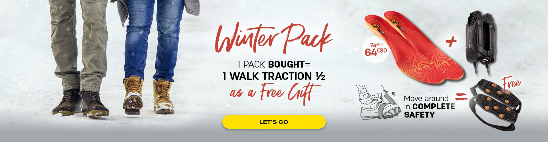 Pack winter composed of 3D winter, Drywarmer Pro and a free walk traction 1/2