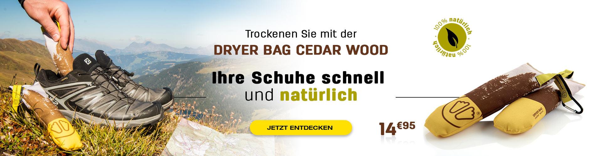 Trocknen Sie Ihre Schuhe dank der Wirkung von Zedernholz natürlich und schnell