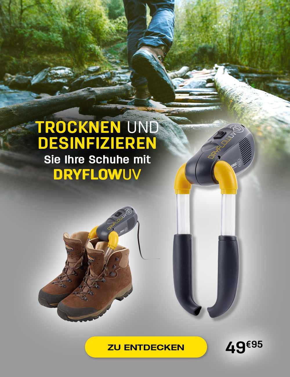 Trocknen und desinfizieren Sie Ihre Schuhe mit DRYFLOW UV