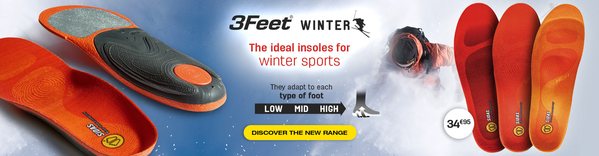 Discover our 3Feet® Winter, the best insoles for winter sports