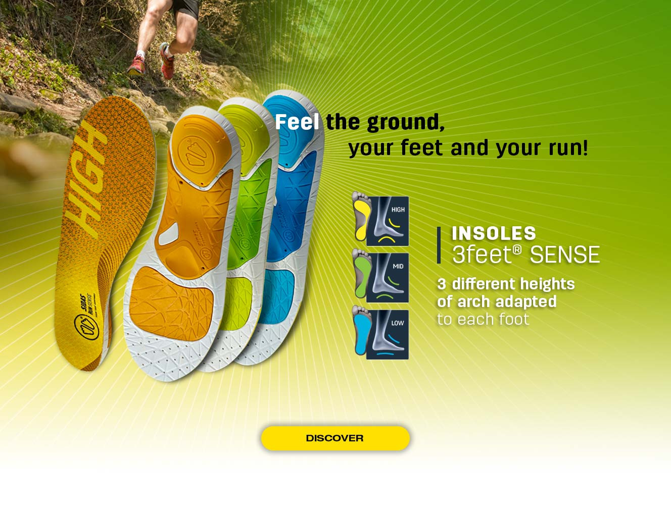 Discover our range 3Feet® SENSE adapted to each type of foot in search of sensation