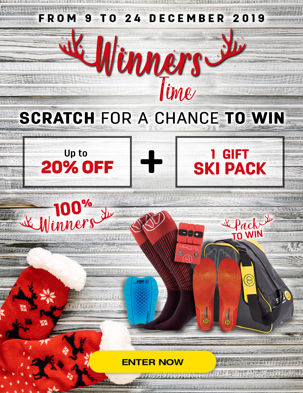 Scratch and try to win a voucher worth 5% to 20% immediate disount!
