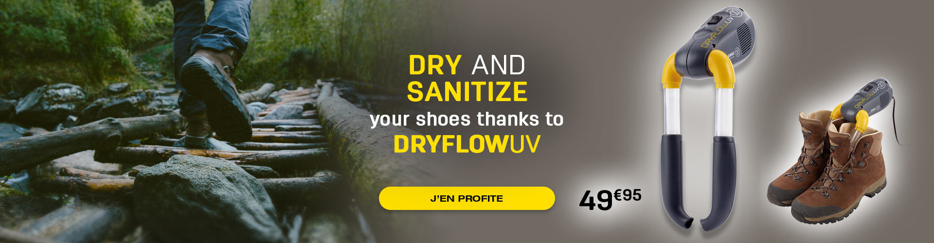 Dry and sanitize your shoes thanks to the Dryflow UV