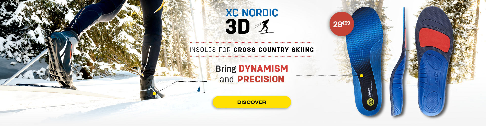 Bring dynamism and precision thanks to 3D XC Nordic insoles