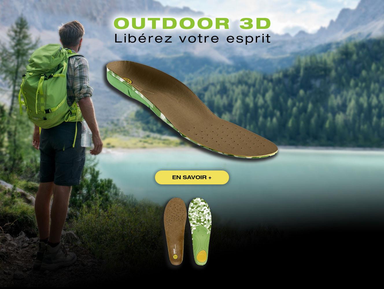Semelles pré-formées Outdoor 3D