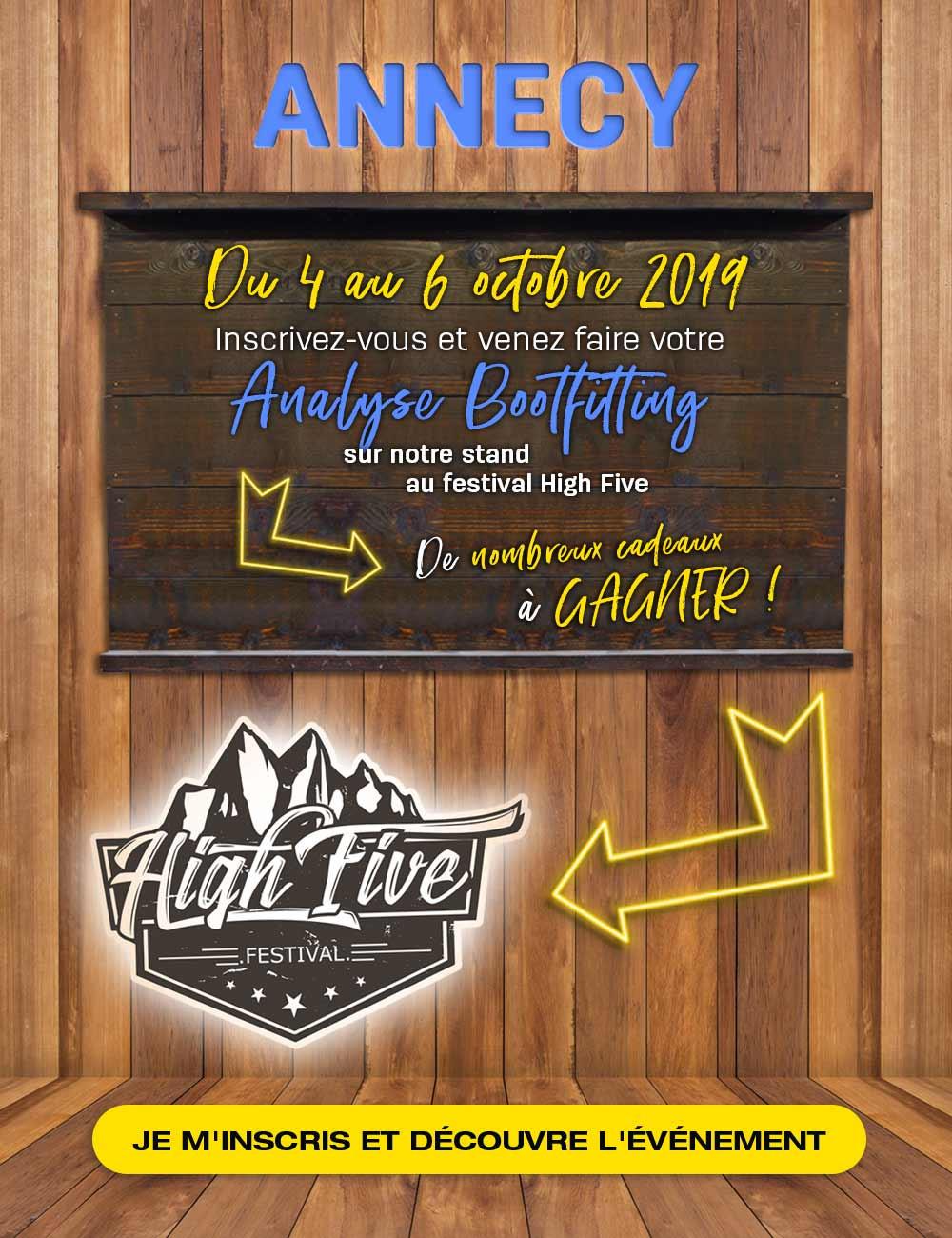 Retrouvez-nous sur le High Five Festival et inscrivez-vous pour faire votre analyse bootfitting gratuitement