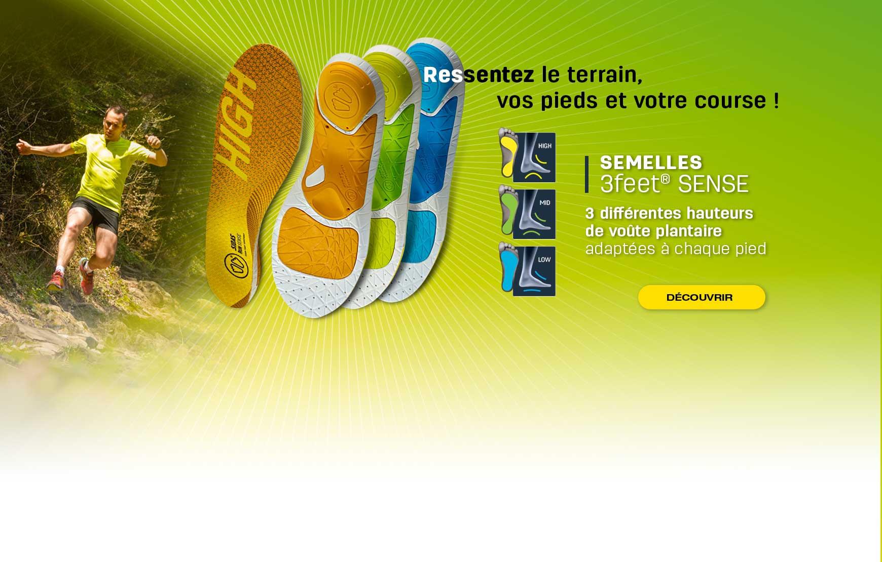 Découvrez notre gamme 3Feet® SENSE adaptée à chaque type de pied à la recherche de sensation