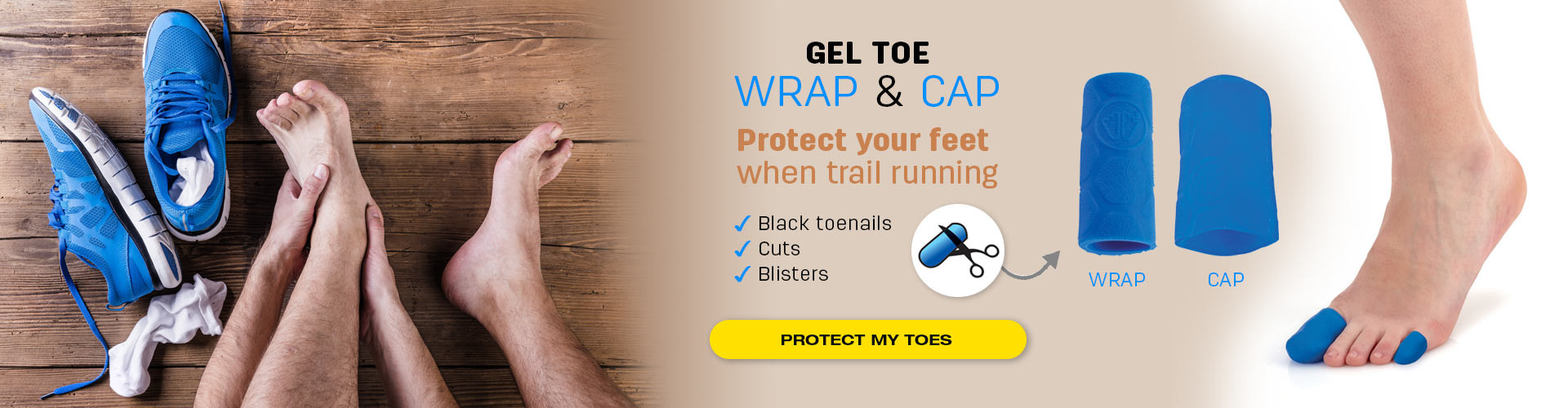 Protect your toes when trail running