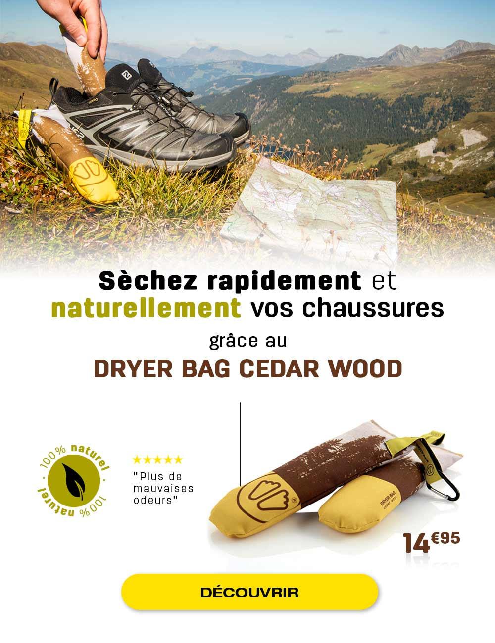 Séchez naturellement et rapidement vos chaussures grâce à l'action du bois de cèdre
