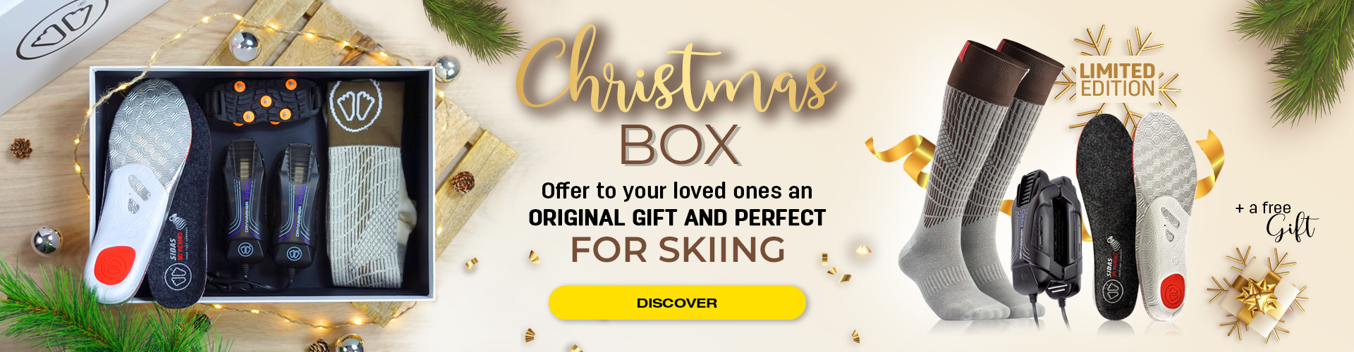 Offer an original gift to your friends and family! Discover our ski Christmas box