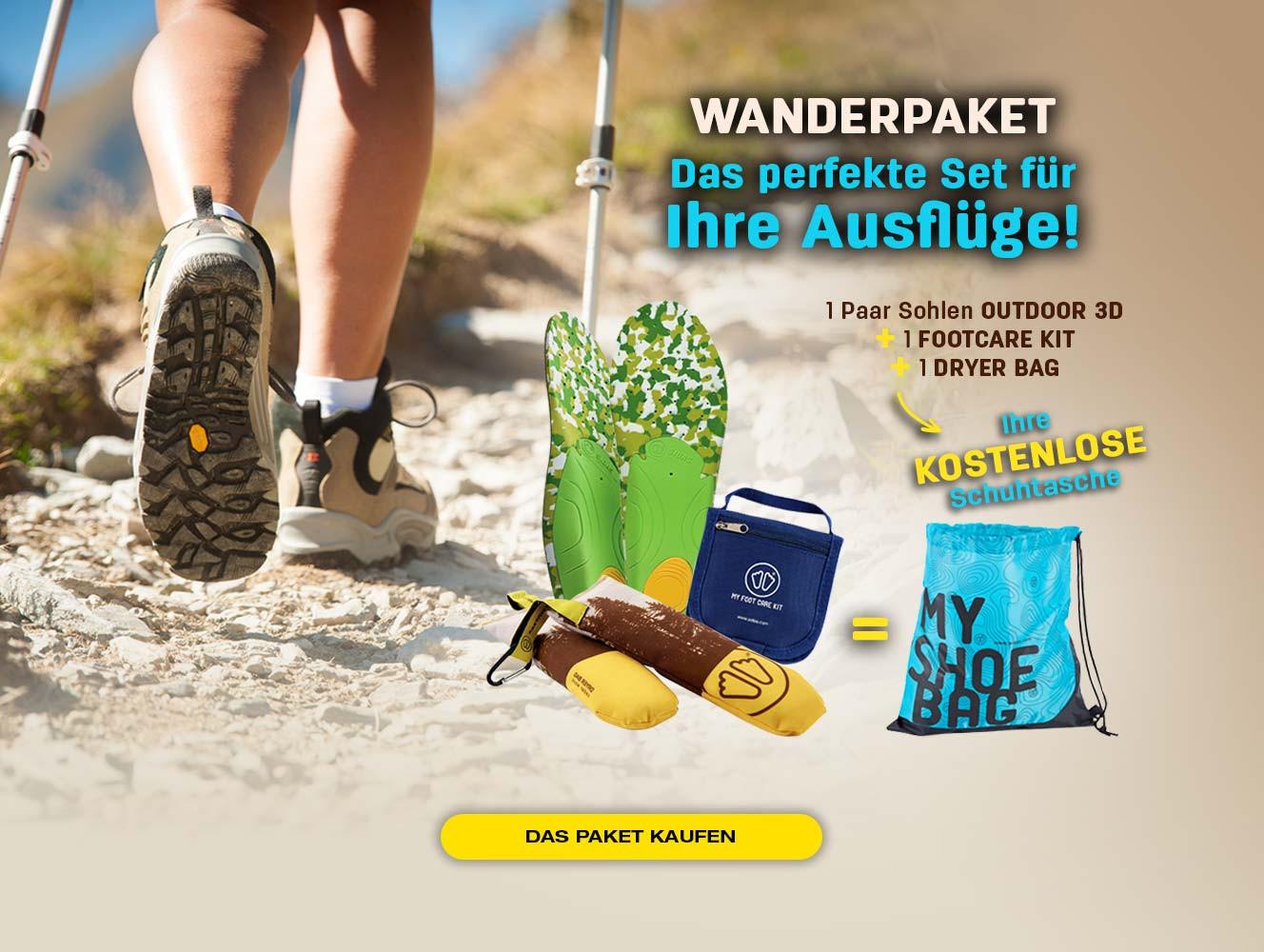 Für den Kauf eines Wanderrucksacks bieten wir Ihnen Ihre Schuhtasche an!