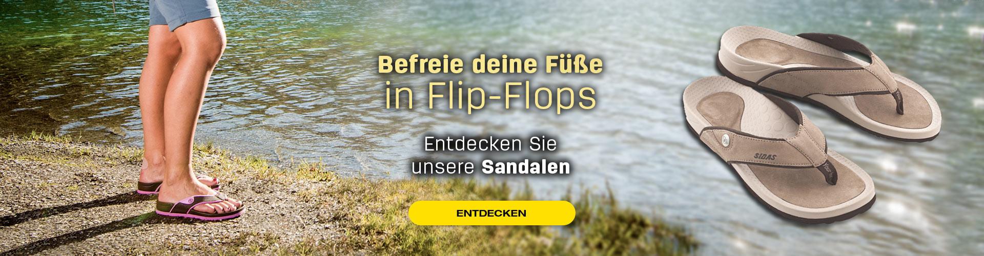 Befreie deine Füße in Flip-Flops!