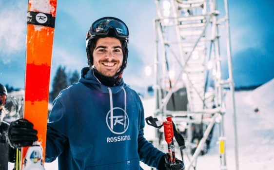 Benoit Valentin, one of the French freestyle halfpipe skiing specialists